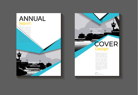 sea-blue design  modern abstract layout background modern cover book cover Brochure cover  template,annual report, magazine and flyer Vector a4  イラスト・ベクター素材