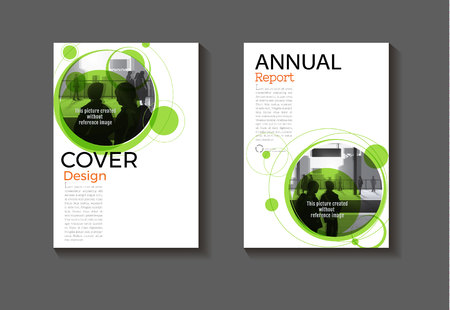 green cover Brochure layout abstract background modern  design modern book  template,annual report, magazine and flyer Vector a4