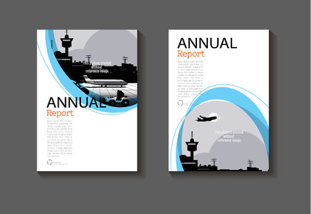 blue cover annual report abstract layout background modern  modern book ,Brochure, template,annual report, magazine and flyer Vector a4
