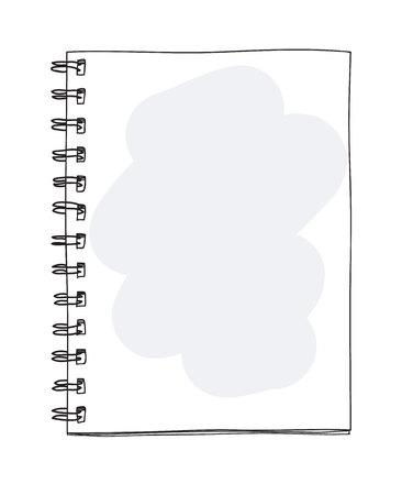 Blank notebook handdrawn cute art vector illustrator  イラスト・ベクター素材