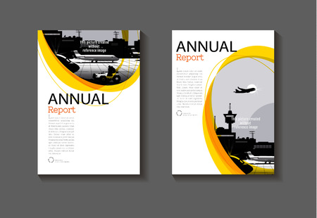 modern yellow  abstract layout background modern cover design book cover Brochure cover  template,annual report, magazine and flyer Vector a4