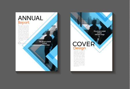 modern blue  abstract layout background modern cover design book cover Brochure cover  template,annual report, magazine and flyer Vector a4  イラスト・ベクター素材