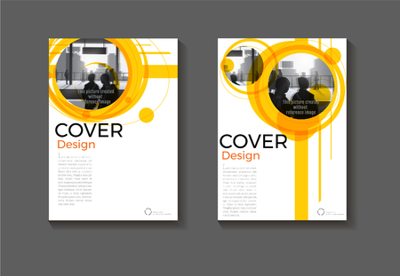 layout yellow abstract background modern cover design modern book cover Brochure cover  template,annual report, magazine and flyer Vector a4  イラスト・ベクター素材