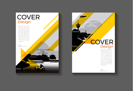 yellow layout  abstract background modern cover design modern book cover Brochure cover  template,annual report, magazine and flyer Vector a4