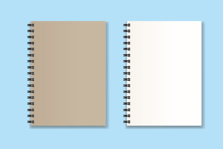 spiral notebook  vector Realistic illustration  イラスト・ベクター素材