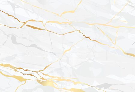 Marble vector golden background  art Realistic texture illustration  イラスト・ベクター素材