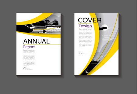 yellow  background layout  abstract  modern cover design modern book Brochure template,annual report, magazine and flyer Vector a4