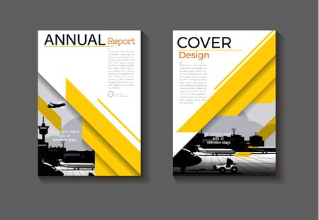 yellow cover design modern book  layout  abstract background modern   Brochure  template,annual report, magazine and flyer Vector a4