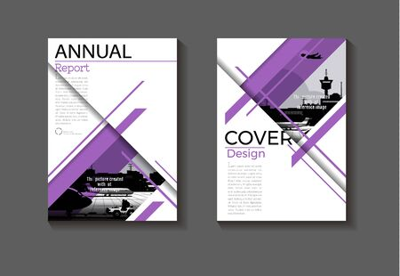 purple modern cover layout abstract background design modern book Brochure -template,annual report,magazine and flyer Vector a4