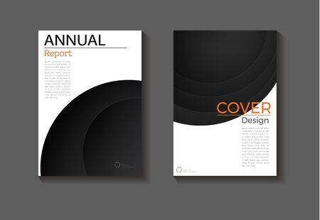 black background modern cover design abstract book cover Brochure cover  template, annual report, magazine and flyer layout Vector a4
