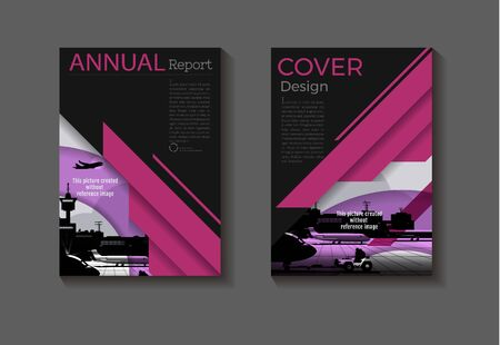 pink background modern cover design abstract book cover Brochure cover  template,annual report, magazine and flyer layout Vector a4 Ilustracja