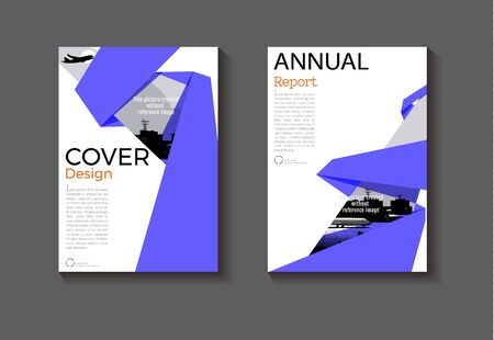 purple layout  abstract background modern cover design modern book cover Brochure cover  template,annual report, magazine and flyer Vector a4