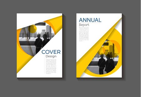 abstract yellow background modern cover design modern book cover Brochure cover  template,annual report, magazine and flyer layout Vector a4 Ilustracja