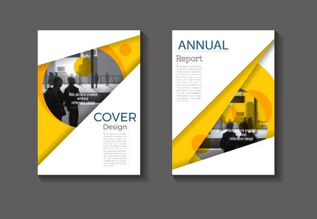 yellow cover  abstract background modern design modern book cover Brochure cover  template,annual report, magazine and flyer layout Vector a4 Ilustracja