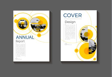 cover layout design abstract background modern book  Brochure template, annual report, magazine and flyer Vector a4 Ilustracja