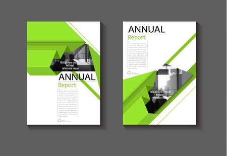 green  layout cover abstract background  design modern book  Brochure template,annual report, magazine and flyer Vector a4