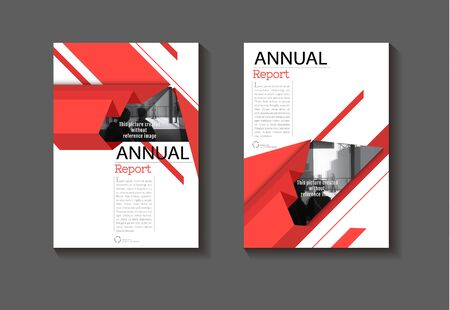 red cover  abstract background modern design modern book cover Brochure cover  template,annual report, magazine and flyer layout Vector a4 Ilustracja