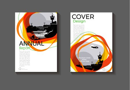 abstract cover background modern design modern book cover Brochure cover  template, annual report, magazine and flyer layout Vector a4 Ilustracja