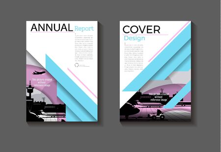 blue and pink cover background modern design modern book cover Brochure cover  template,annual report, magazine and flyer layout Vector a4