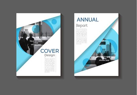 blue cover background modern design modern book cover Brochure cover  template,annual report, magazine and flyer layout Vector a4 Ilustracja