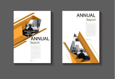 abstract cover  Brown background design modern book  Brochure  template, annual report, magazine and flyer layout Vector a4
