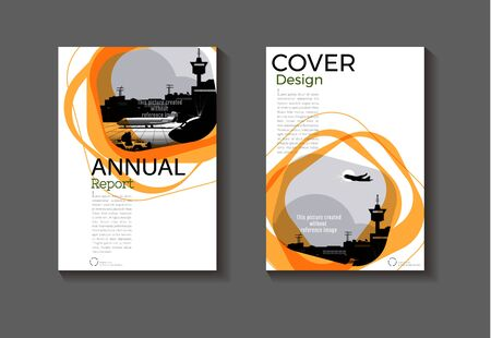 Brown cover abstract background design modern book  Brochure  template,annual report, magazine and flyer layout Vector a4