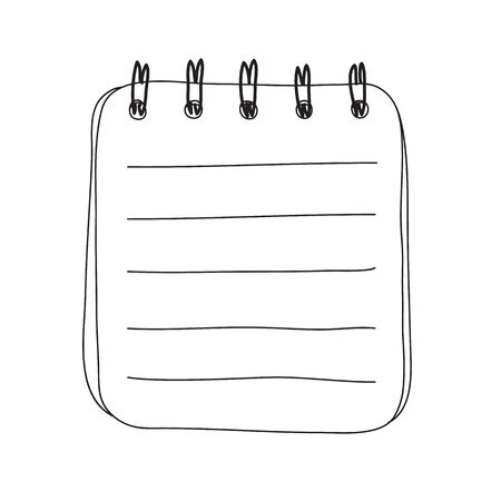 small notebook hand drawn line art cute vector illustration