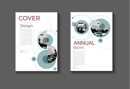 copertina astratto sfondo design moderno libro Modello di brochure, relazione annuale, layout di riviste e volantini Vector a4 Vettoriali