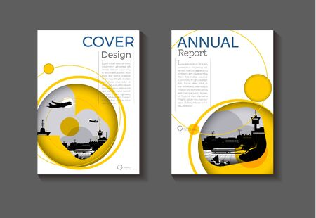 cover yellow abstract background design modern book  Brochure  template,annual report, magazine and flyer layout Vector a4