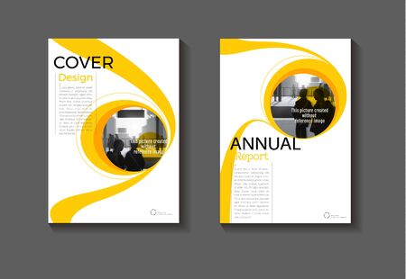 abstract Circle yellow background modern cover design modern book cover Brochure cover  template,annual report, magazine and flyer layout Vector a4
