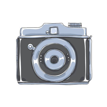 spy camera Vintage  subminiature hand drawn vector illustration 矢量图像