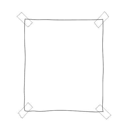 paper note hand drawn doodle vector cute line art illustration 矢量图像