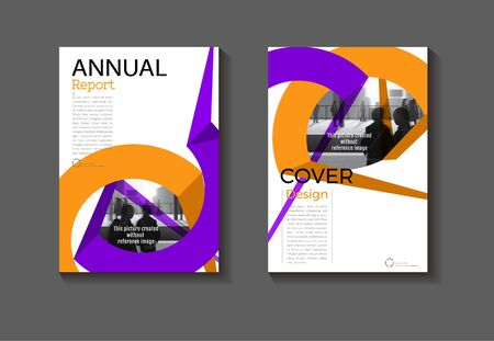 purple and green cover abstract layout background design modern, book Brochure template,annual report magazine and flyer layout Vector a4