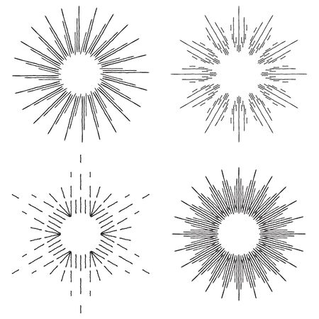 sunburst set doodle vector art illustration 矢量图像