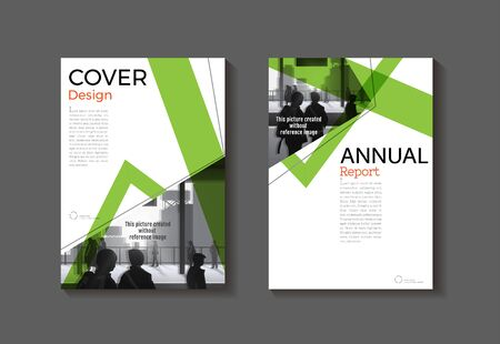 green color cover abstract modern  cover book Brochure template, design, annual report, magazine and flyer layout Vector a4