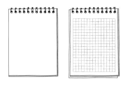 notebook hand drawn line art vector illustration 矢量图像