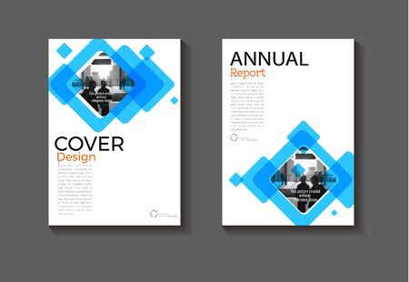 cover blue abstract Circle background modern cover design modern book  Brochure template,annual report, magazine and flyer layout Vector a4