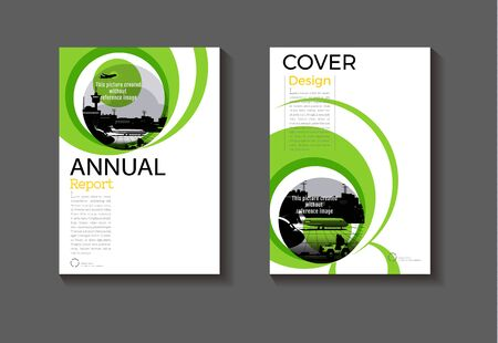 cover green color abstract modern  cover book Brochure template, design, annual report, magazine and flyer layout Vector a4