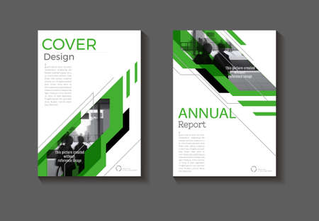 cover modern abstract background design book  green Brochure  template,annual report, magazine and flyer layout Vector a4  イラスト・ベクター素材