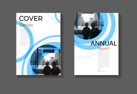 blue abstract Circle background modern cover design modern book cover Brochure cover  template,annual report, magazine and flyer layout Vector a4