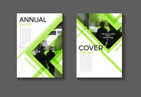 green abstract background Circle modern cover design modern book cover Brochure cover  template,annual report, magazine and flyer layout Vector a4 向量圖像