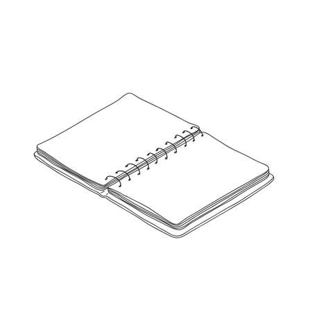 notebook art hand drawn doodle vector cute line art illustration