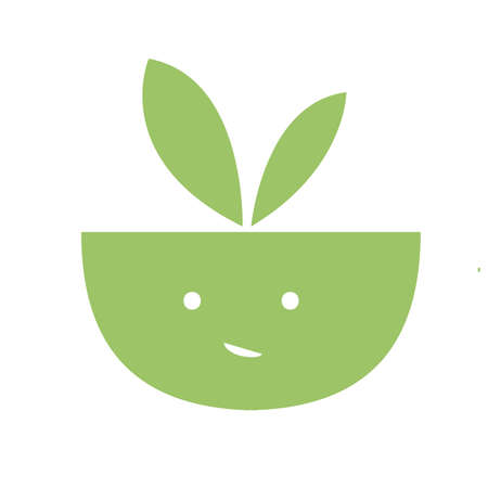 plants pots green Vector icon and logo illustration art background