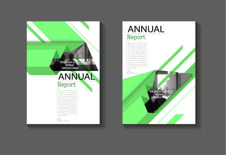 cover green abstract background modern design modern book cover Brochure cover  template,annual report, magazine and flyer layout Vector a4 向量圖像