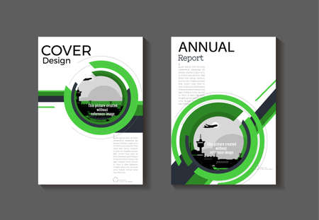 green modern  cover abstract cover book Brochure template, design, annual report, magazine and flyer layout Vector a4