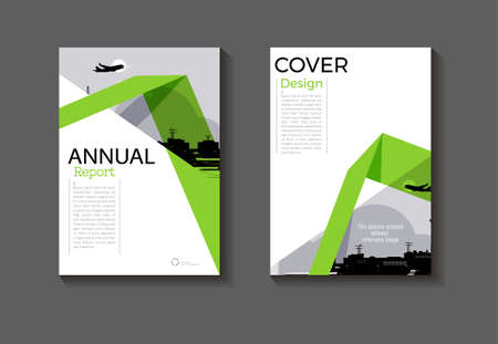 green cover modern background design book  green Brochure  template magazine and flyer layout Vector a4