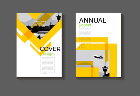 yellow abstract background modern cover design modern book cover Brochure cover  template,annual report, magazine and flyer layout Vector a4