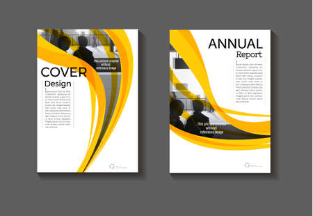 yellow template abstract background modern cover design modern book cover Brochure cover ,annual report, magazine and flyer layout Vector a4 向量圖像