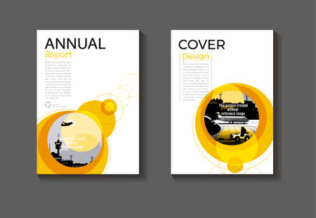 cover  abstract background Yellow Circle modern design modern book cover Brochure cover  template,annual report, magazine and flyer layout Vector a4