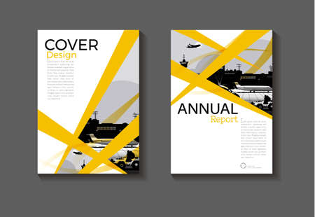 cover Yellow abstract background modern design modern book cover Brochure cover  template,annual report, magazine and flyer layout Vector a4